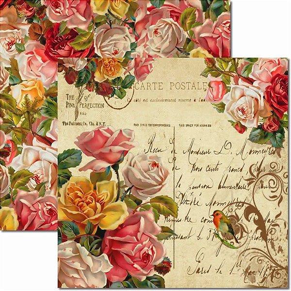 Papel Para Scrapbook Dupla Face 30,5x30,5 cm Arte Fácil - SC-055 Antique