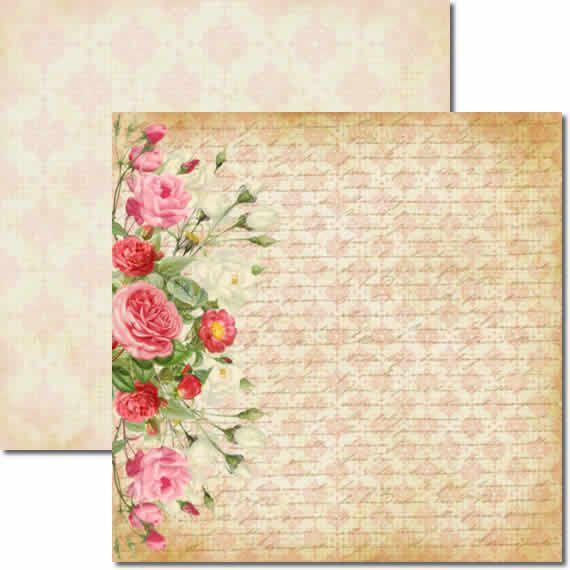 Papel Para Scrapbook Dupla Face 30,5x30,5 cm Arte Fácil - SC-044 Bailarinas 2