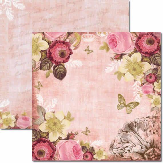 Papel Para Scrapbook Dupla Face 30,5x30,5 cm Arte Fácil - SC-005 Roses 01