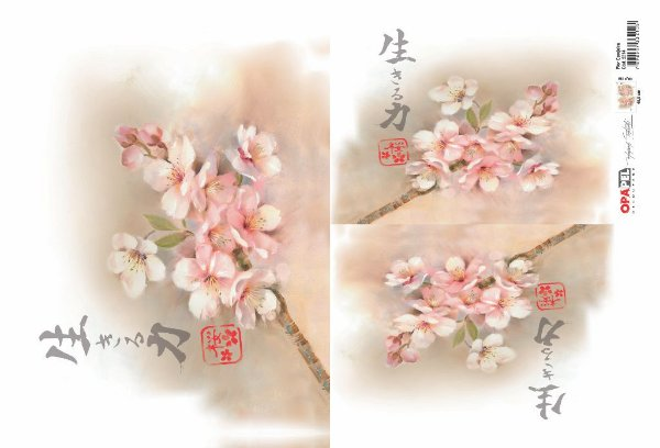Papel Decoupage 30x45 cm OPAPEL 2314- Flor Cerejeira