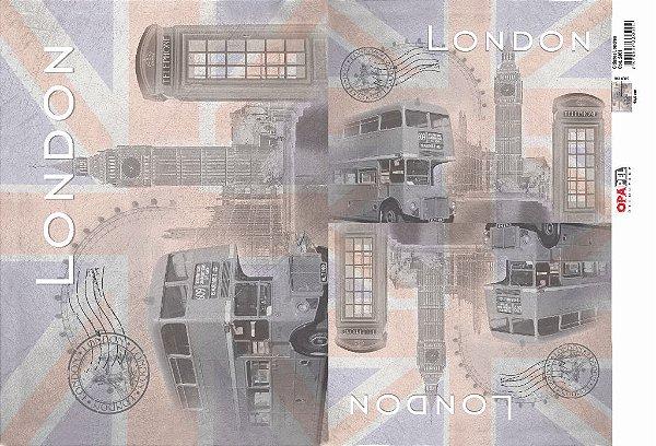 Papel Decoupage 30x45 cm OPAPEL 2401 - Cidades Londres