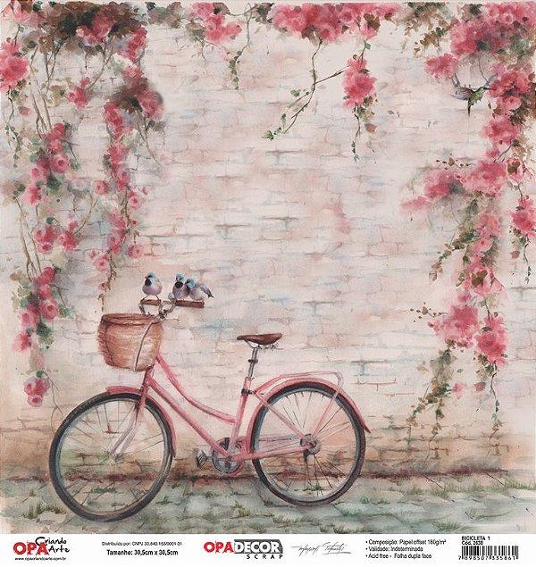 Papel Para Scrapbook Opadecor 30,5x30,5 - Bicicleta 1 2638