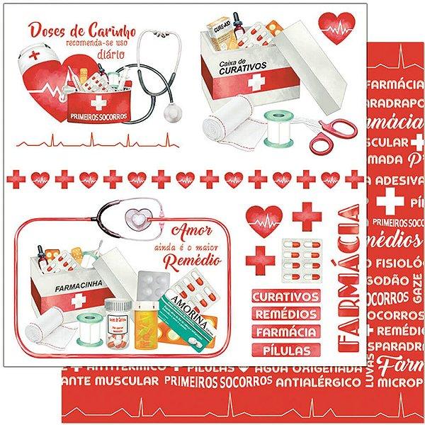 Papel Para Scrapbook 30,5 Cm X 30,5 Cm - FARMÁCIA, MEDICAMENTOS, REMÉDIOS SD-1134