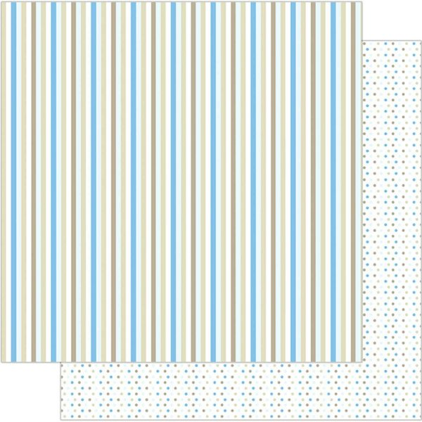 Papel Para Scrapbook 30,5 Cm X 30,5 Cm - LISTRAS COLORIDAS MASCULINO SD-102