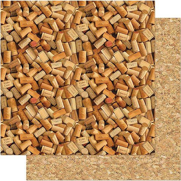 Papel Para Scrapbook 30,5 Cm X 30,5 Cm - ROLHAS DE VINHOS SD-526