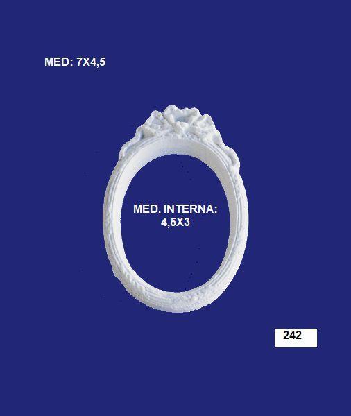 Aplique em Resina Mini Moldura Oval Com Laço 7x4,5 cm - 242