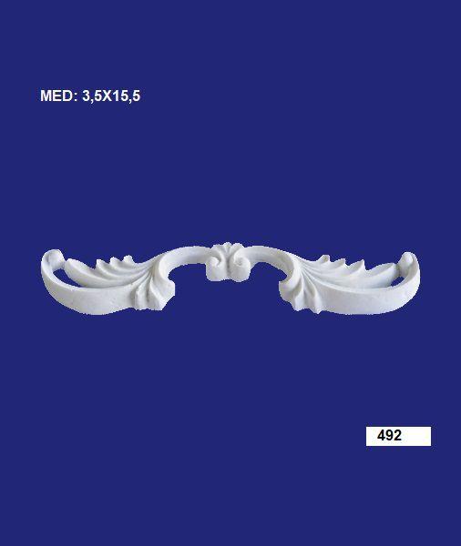 Aplique em Resina Veneza 3,5x15,5 cm - 492