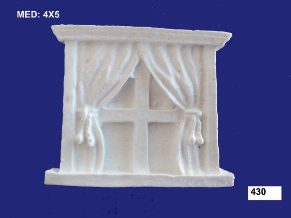 Aplique em Resina Janela Avulsa 4x5 cm - 430