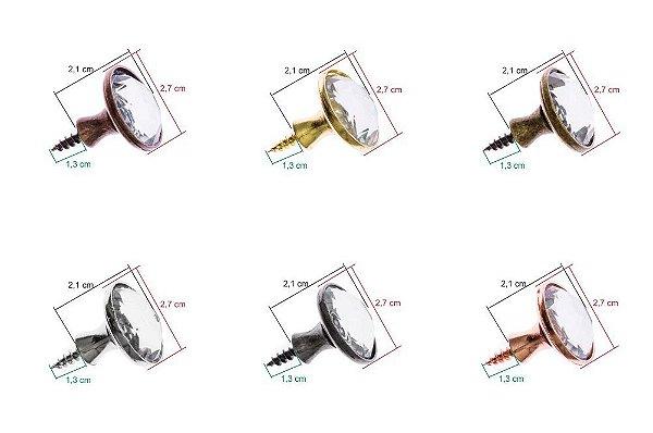 Puxador De Metal Modelo Cristal