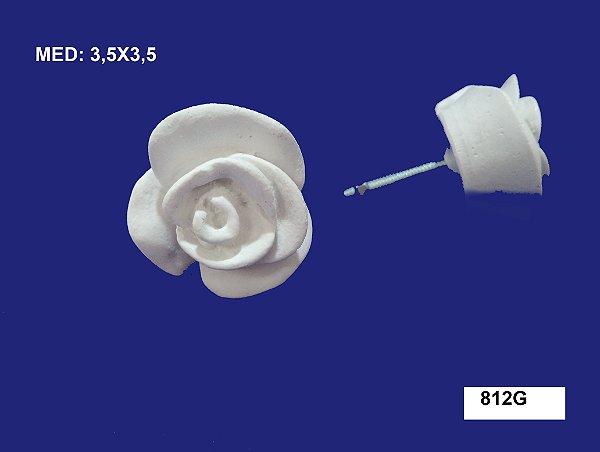 Aplique em Resina Puxador Botão de Rosa G 3,5x3,5cm - 812 G