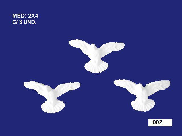 Aplique em Resina Trio Divino Mini 4x2 cm - 002