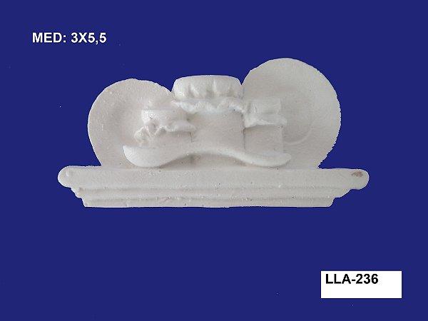 Aplique em Resina Cozinha 3x5,5 cm - LLA 236