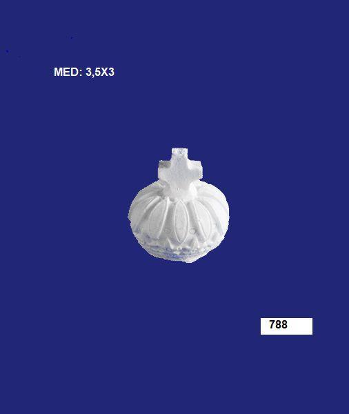 Aplique em Resina Coroa Pequena Modelo 01 3,5x3cm - 788