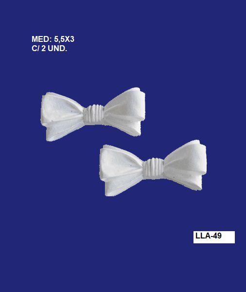 Aplique em Resina Kit Com 2 Laços 5,5x3cm - LLA 49