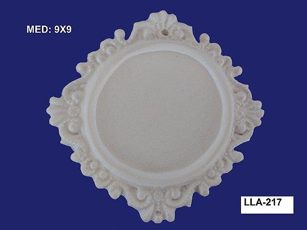 Aplique em Resina Moldura Redonda Trabalhada 9x9cm - LLA 217