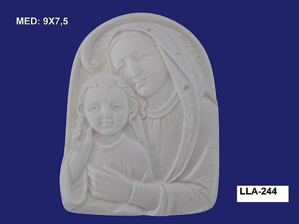 Aplique em Resina Aparecida e Jesus Na Placa 9x8cm - LLA 244
