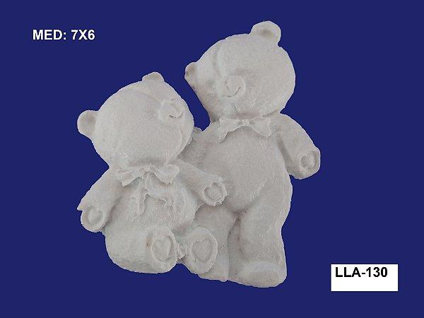 Aplique em Resina Casal De Ursos 7x6cm - LLA 130