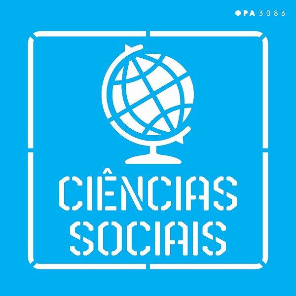 Stencil 14x14 Profissões Ciências Sociais - OPA 3086