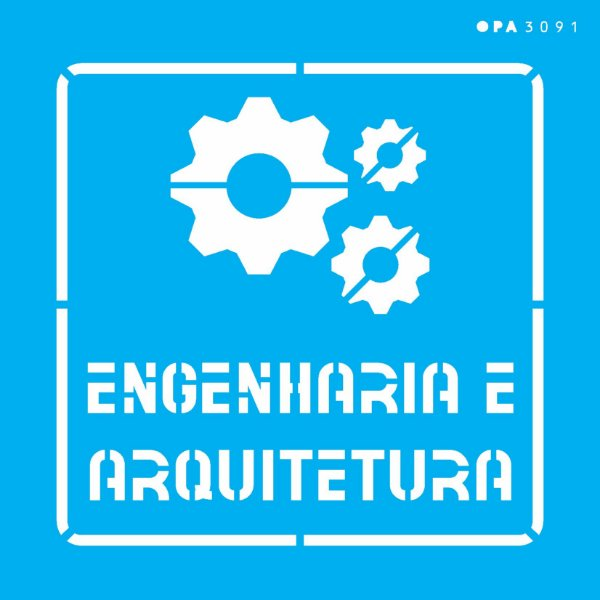 Stencil 14x14 Profissões Engenharia - OPA 3091
