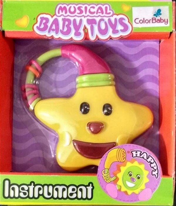 Brinquedos Para Bebês Com Botões Musicais - Estrela