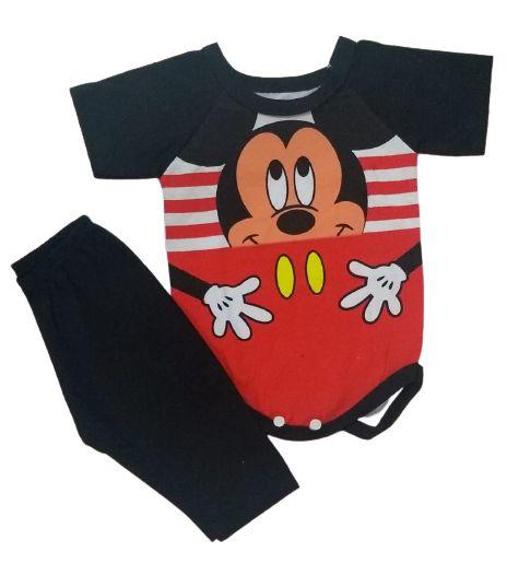 Conjunto Body com Calça Personagens - Mickey