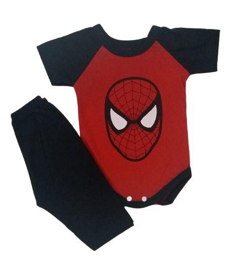 Conjunto Body com Calça Personagens - Homem Aranha