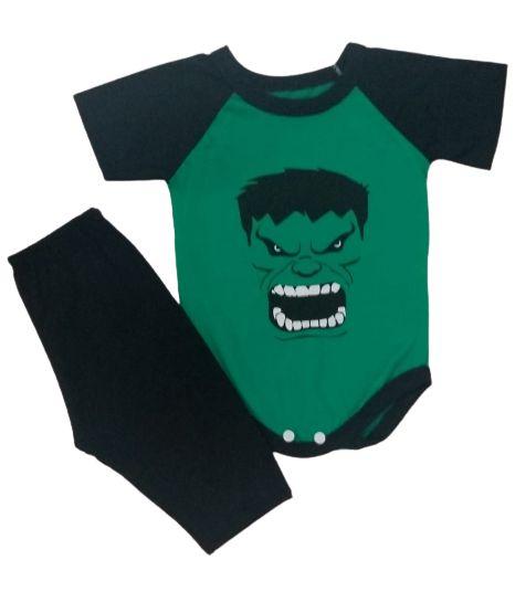 Conjunto Body com Calça Personagens - Hulk