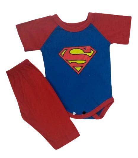 Conjunto Body com Calça Personagens - Superman