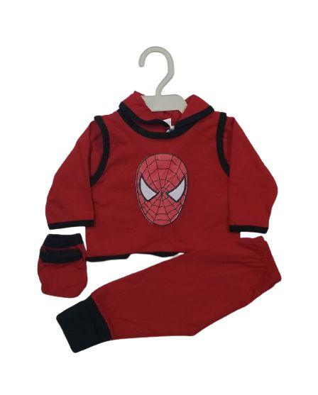 Conjunto Pagão Bebê recém nascido com 4 peças - Homem Aranha