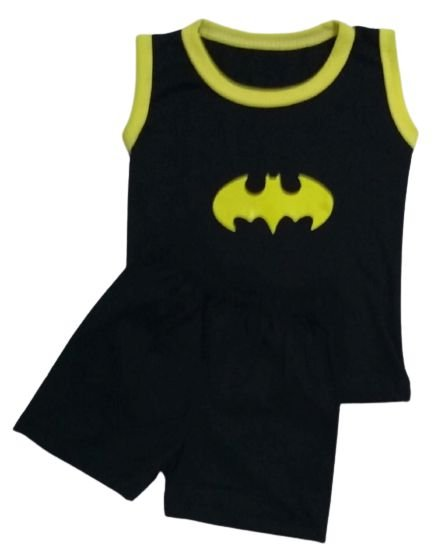 Conjunto Camisa Regata e Short Personagens - Batman