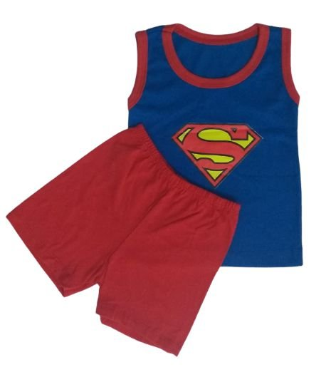 Conjunto Camisa Regata e Short Personagens - Superman