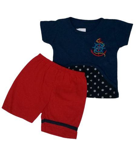 Conjunto Camiseta e Shorts Marinheiro