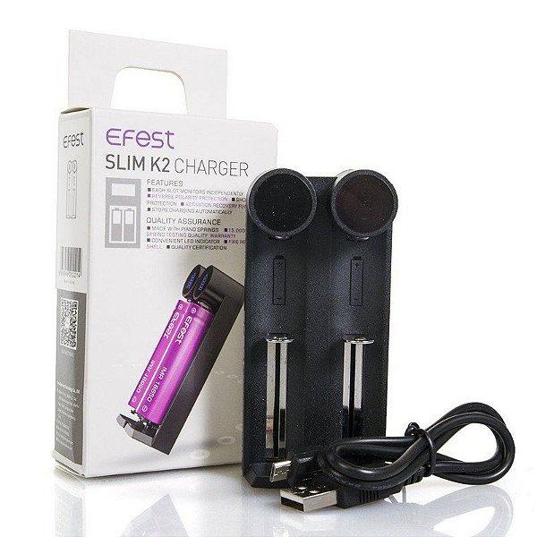 Efest - Slim K2 Charges (Carregador de Bateria)
