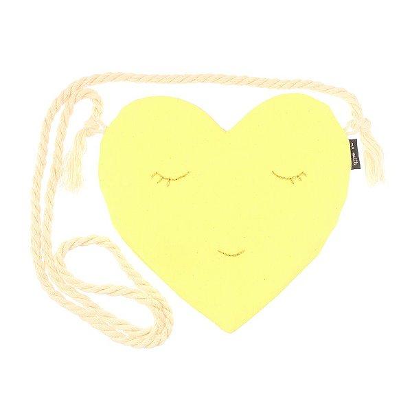 S2019-02 - Bolsinha Love Amarelo Neon
