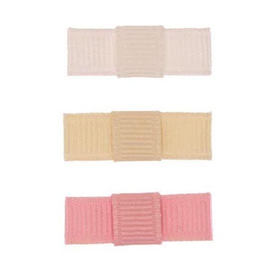ARN004-01 - Laço Simple P Gorgurão Kit 3 - Branco/marfim/rosa