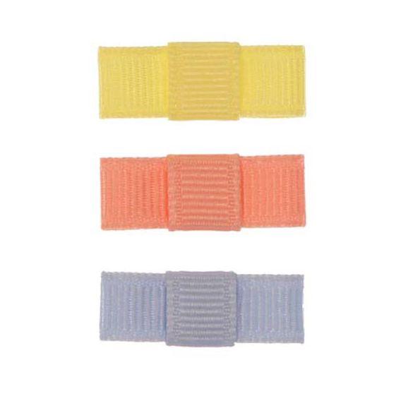 ARN004-06 - Laço Simple P Gorgurão Kit 3 - Amarelo Claro/salmão/azul Celeste