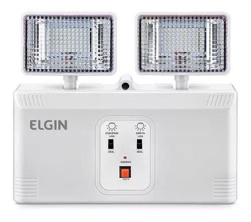 Luminária de Emergência 2 faróis 1000 lumens