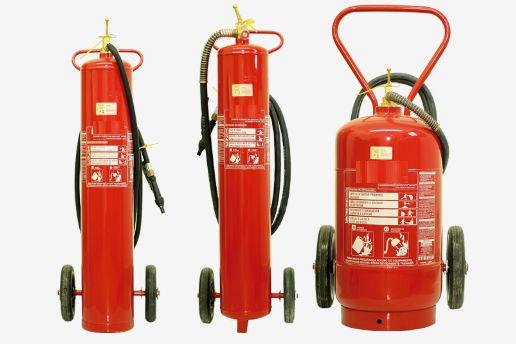 Extintor Pó Químico bc 20 kg - sobre rodas
