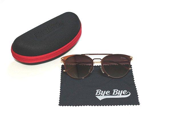 Óculos de Sol Feminino Retrô - Lente Marrom