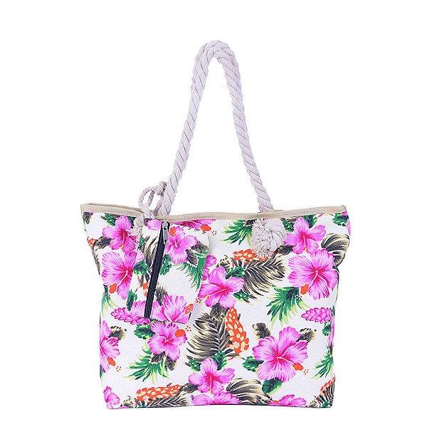 Bolsa Sacola de Praia Flores