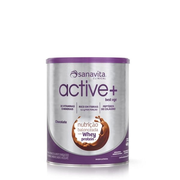 ACTIVE + BEST AGE CHOCOLATE LATA SANAVITA 400G