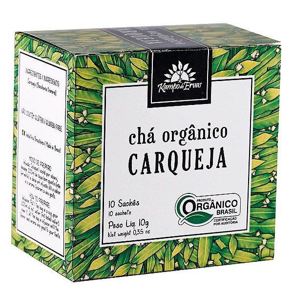 CHÁ ORGÂNICO CARQUEJA CX C/ 10 SACHES KAMPO DE ERVAS 10G