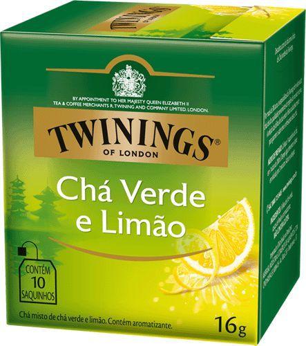 CHÁ VERDE E LIMÃO TWININGS CAIXA C/ 10 SAQUINHOS 20G