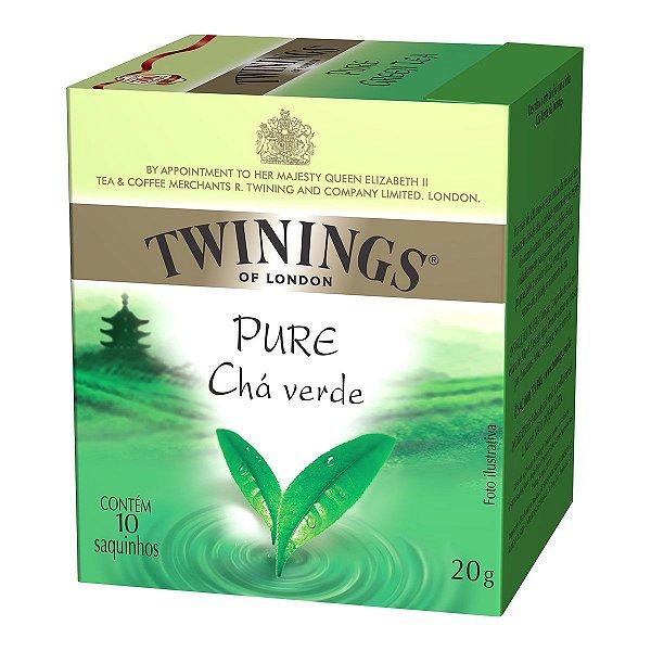 CHÁ VERDE TWININGS CAIXA C/ 10 SAQUINHOS 20G
