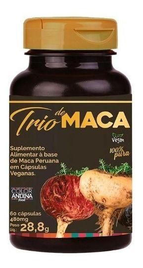 TRIO MACA PERUANA COLOR ANDINA FOOD 60 CAPSULAS