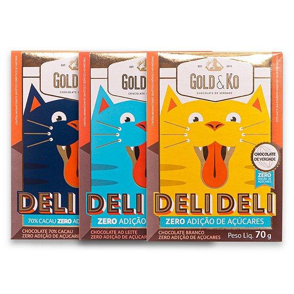 CHOCOLATES SEM AÇÚCAR DELI DELI GOLD&KO 70G