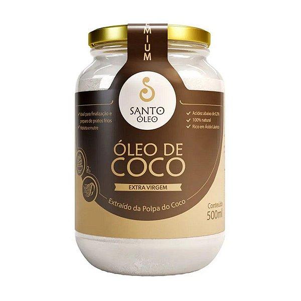OLEO DE COCO PREMIUM SANTO OLEO 500ML