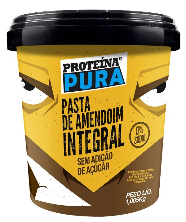 PASTA DE AMENDOIM INTEGRAL PROTEINA PURA 1KG
