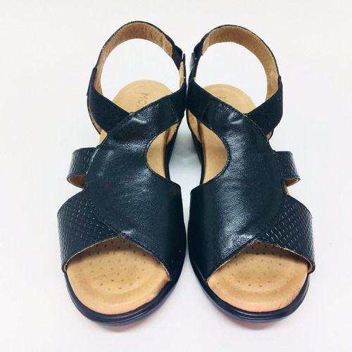 Sandálias Femininas Conforto Ortopédica Couro Legítimo 80810