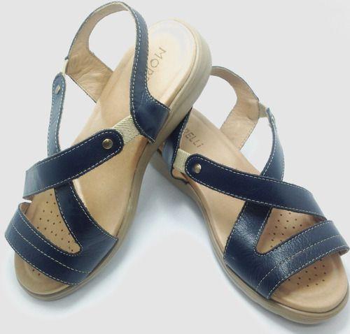 Sandálias Femininas Funções Ortopédicas Couro Sucesso 80788